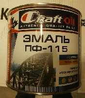 Эмаль ПФ-115 CRAFT OIL красная  1,8 кг